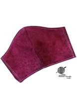 Face Mask Dark Burgundy Maroon Small Print Cotton Facemask Handmade USA - $12.95