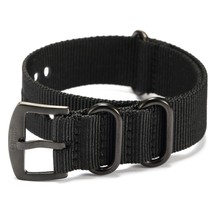 Shark Army Black Nylon Sport Military Ourdoor Watchband Watch Strap Band WTL067 - $24.54
