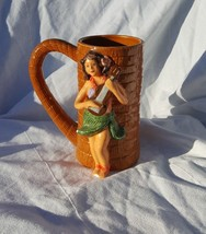 KC Co., Ltd, Hawaii - Raised Hula Girl with Ukelele - Tiki Mug - Very Ra... - $26.72