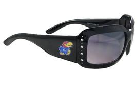 An item in the Sports Mem, Cards & Fan Shop category: Kansas Jayhawks Black Womens Crystal Fashion Sunglasses KU 4JT Jayhawk Logo