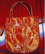 "Big Silk Bag 8""x 8.5"" x 2"" Copper Brown Tarot cards crystals wand Runes ... - $8.99"