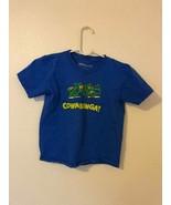 T-Shirt TMNT Teenage Mutant Ninja Turtles Cowabunga Blue Y L-7 - $0.98
