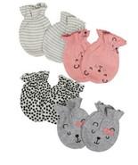 Gerber Baby Girl 4-Piece ORGANIC Mittens Set, Size 0-3M - $9.95
