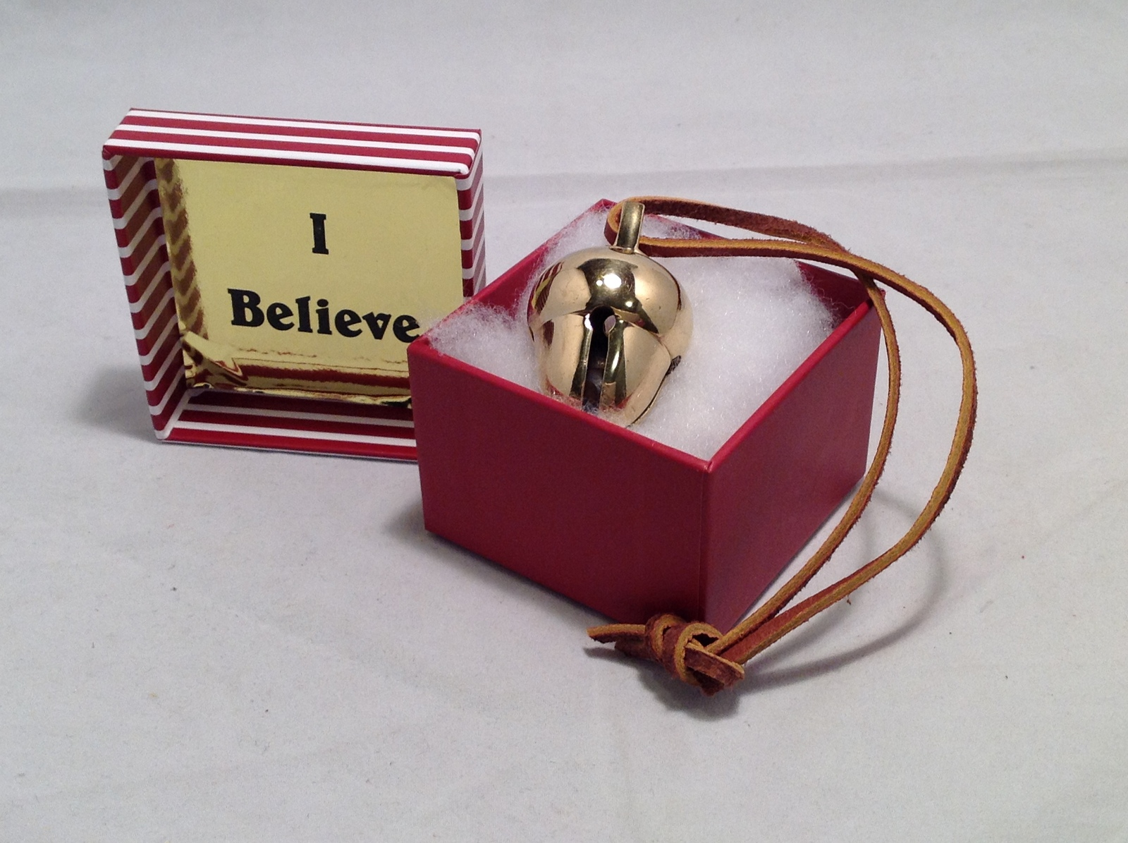 Primary image for I Believe Polar Express Brass 2 tone Acorn Bell Exclusively From Elf Works Lane