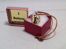 I Believe Polar Express Brass 2 tone Acorn Bell Exclusively From Elf Works Lane