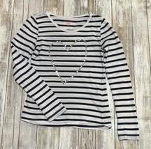 Joe Fresh Girls Stripe Long Sleeve w Heart size M (7/8) - $8.91