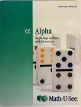 Alpha: Single-Digit Addition and Subtraction Instruction Manual [Hardcov... - $11.99
