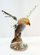 "Dynasty Gallery Large 8"" Art Glass Bald Eagle Bird Statue Figure Figurin... - $42.07"