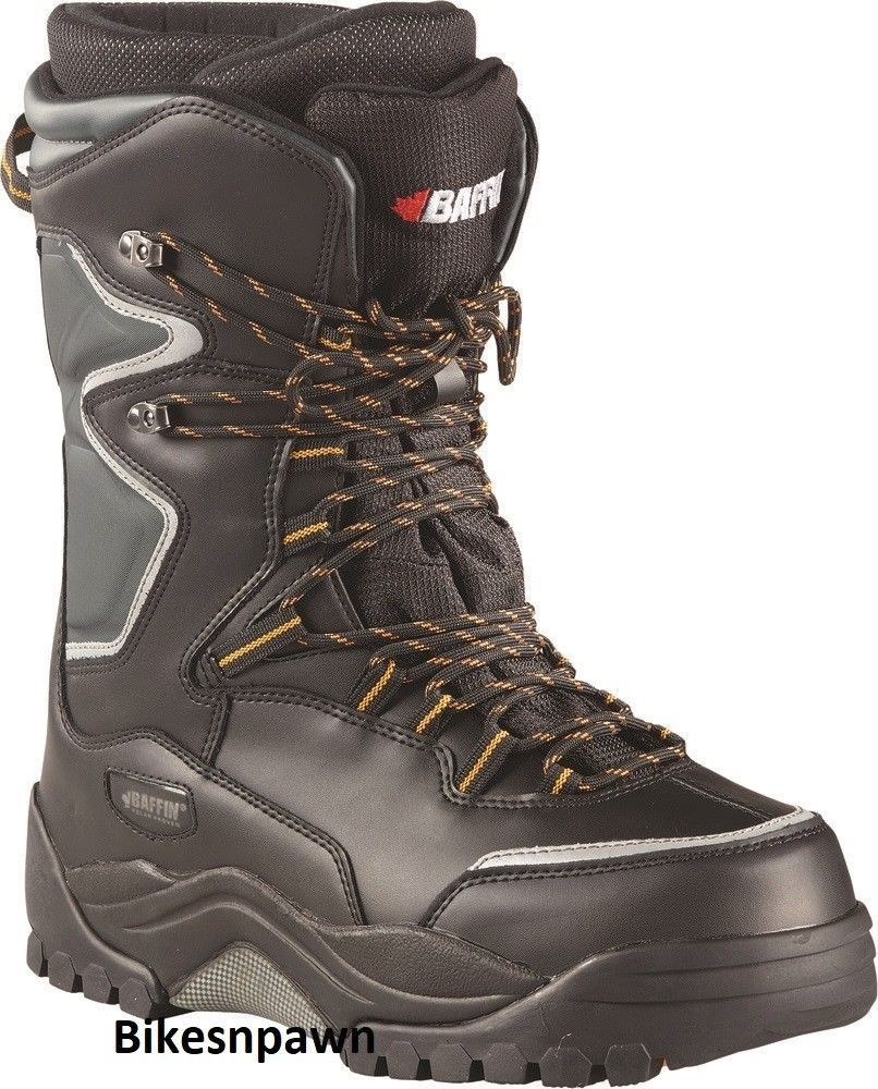 New Mens Size 14 Black Baffin Lightning Snowmobile Winter Snow Boots -94F