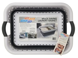 NEW Pop & Load Space Saving Laundry Basket - $24.25