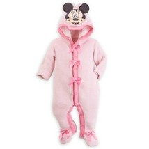 WDW DISNEY MINNIE MOUSE HOODED ROMPER FOR BABY SIZE 3 - 6 MONTHS NEW WIT... - $29.99