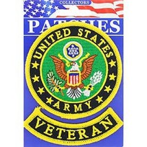 United States Army Veteran Military Patch With Tab - $11.87