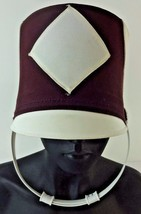 Vintage Red White Drum Major Marching Band Hat Ostwald Halloween Costume... - €24,99 EUR