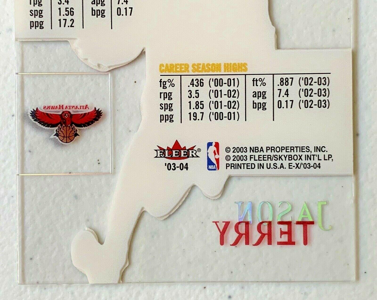 Jason Terry Now/66 #65 Atlanta Hawks Fleer Basketball Card with Hard Case 31G image 9