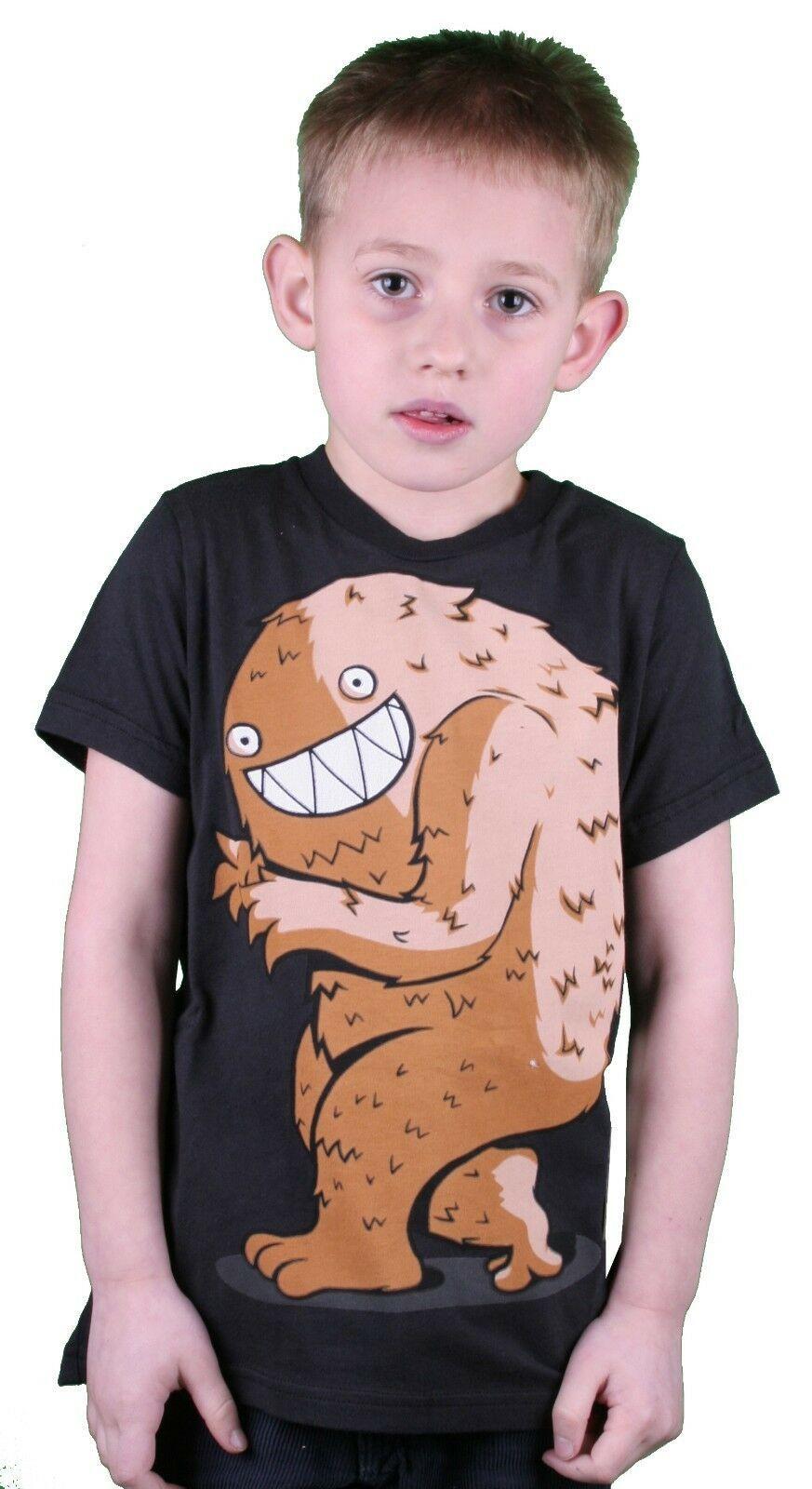 Iron Fist Black Little Boy's Creepy Steve Monster Kids Youth T-Shirt 2-7 NWT