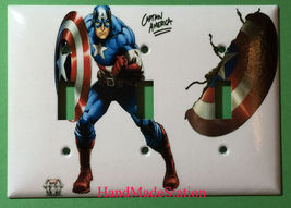 Captain America Light Switch Power Outlet Wall Cover Plate Home decor image 5