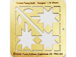 Paula Hallinan Metal Embossing Plate, Double Peony Quilt #PRH-85
