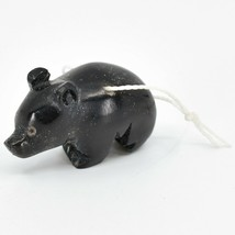 Hand Carved Tagua Nut Carving Small Black Bear Ornament Handmade in Ecuador image 2