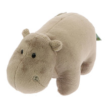 NICI Hippo Gray Stuffed Animal Plush Toy Standing 10 inches 25cm - $19.00