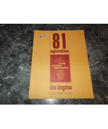 81 Registrations For Conn Organs Volume Six 6 Sheet Music Don Kingston - $5.99