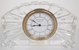 Waterford Crystal Portico Mantel Clock 6.5 x 4 x 1.5 Japan Movement - $39.60