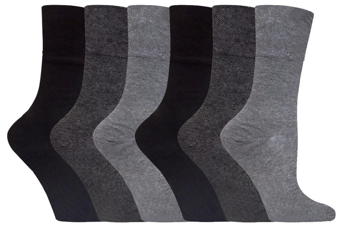 6 Pairs Ladies Sockshop Gentle Grip Diabetic Medical Socks Size 4-8 Uk 37-42 Eu