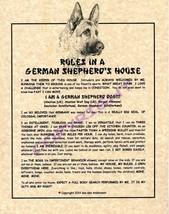 Rules In A German Shepherd's House - $20.70