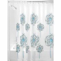 InterDesign Allium Shower Curtain, 72 x 72, Blue/Black - $36.91