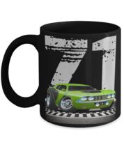 1971 Plymouth Cuda Race Track Muscle Car CARtoons  - 11 oz Classic Black  - $18.99
