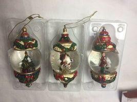 Kirkland Signature Waterglobe Ornaments Lot of 3 Christmas Tree Santa Drummer image 7