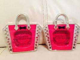 2 Bath & Body Works Scentportable Magnetic Holder Pink Handbag - $9.88