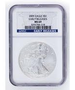 2009 S $1 Argento American Eagle Selezionato di NGC come MS69 Early Stampe - $29.66