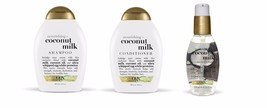 Organix Coconut Milk Shampoo and conditioner and Anti Breakage Serum set - $35.73