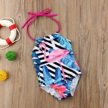 Kids Baby Girls Flamingo Bodysuit Swimwear Swimsuit Bikini Bathing Beac... - $9.79+
