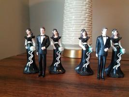 Vintage Wilton Wedding Cake Toppers 4 Bridesmaids 2 Groomsmen 1991 Crafts - $3.99