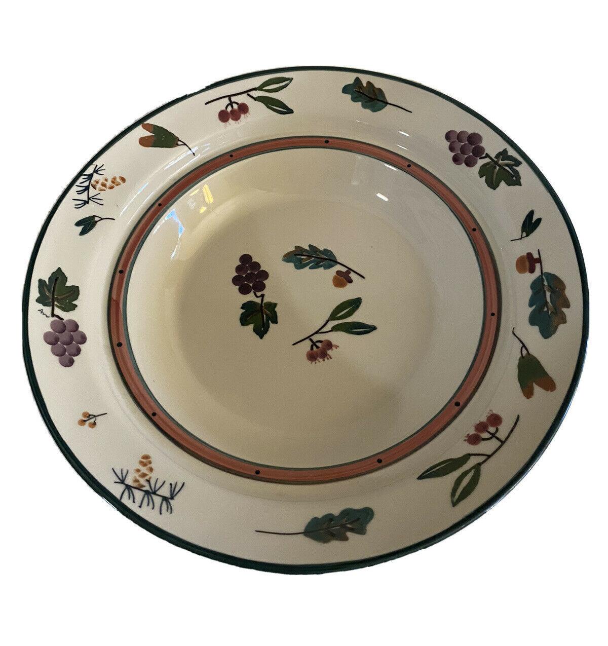 "1981 Hartstone Pottery  WOODLAND Pasta Serving Bowl - XL14-1/4"" - $39.99"