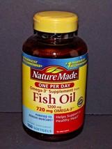 Nature Made Fish Oil 1200 mg 720 mg Omega-3 100 Softgels 01/2021 (H) - $14.84