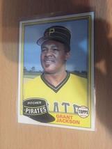 #518 Grant Jackson Pitcher Pirates Topps Baseball Card 1981 1A - $1.91