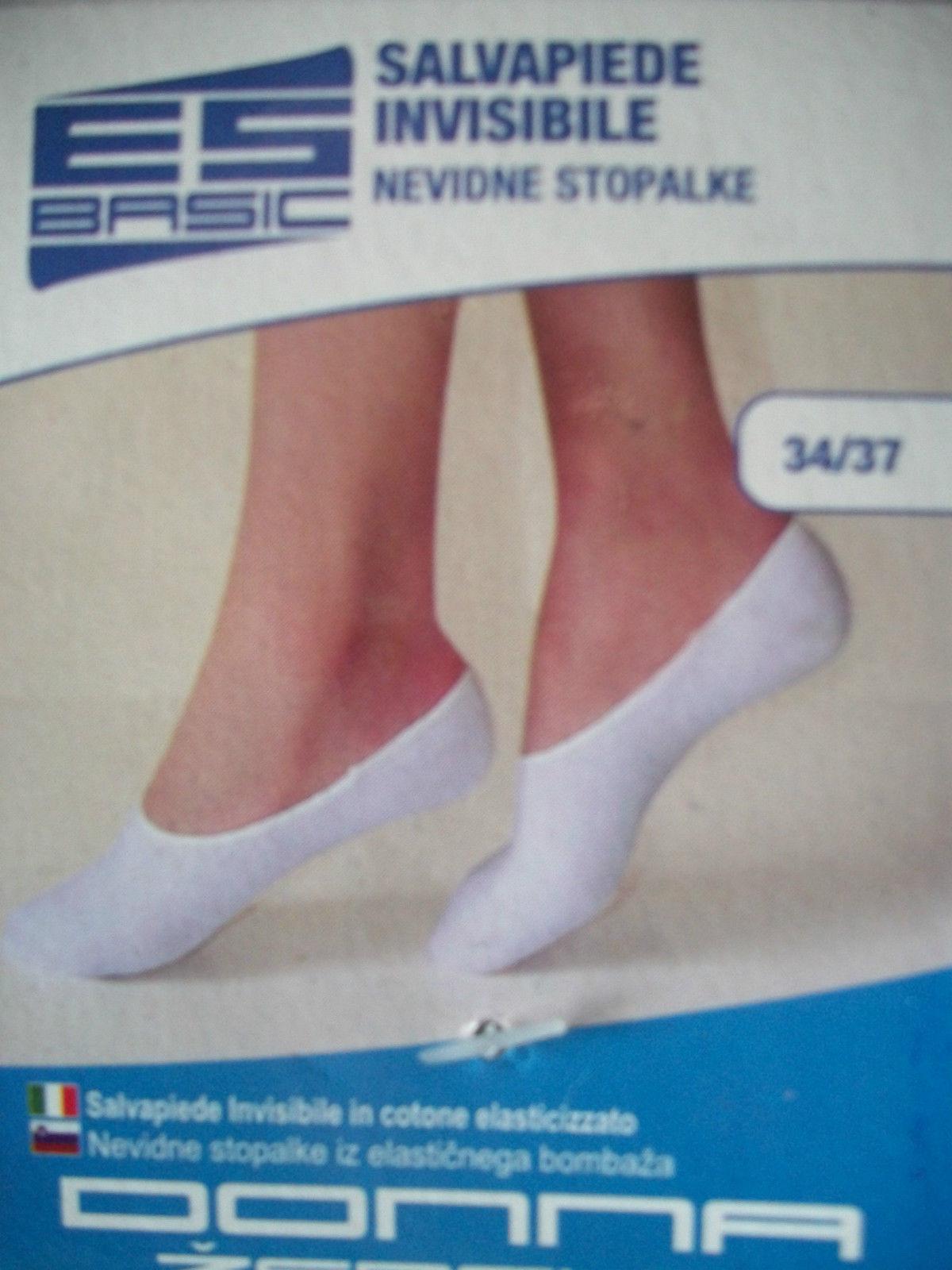 unsichtbare Socken weiß Baumwolle 4 Paar