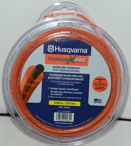 Husqvarna 596780501 Titanium X Pro Trimmer Line Orange 200 ft  .105 size