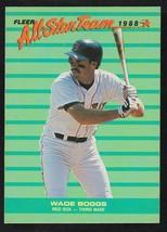 Boston Red Sox Wade Boggs 1988 Fleer All Star Team Insert Baseball Card 8 - $0.99