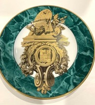Fitz and Floyd Consoles IV Decorative Plate Green Marble Design - $23.75