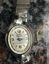 WALTHAM Ladies Wrist Watch, Steel Back, Crystal Bevel 17 Jewels WORKS (D3) Clean - $9.89