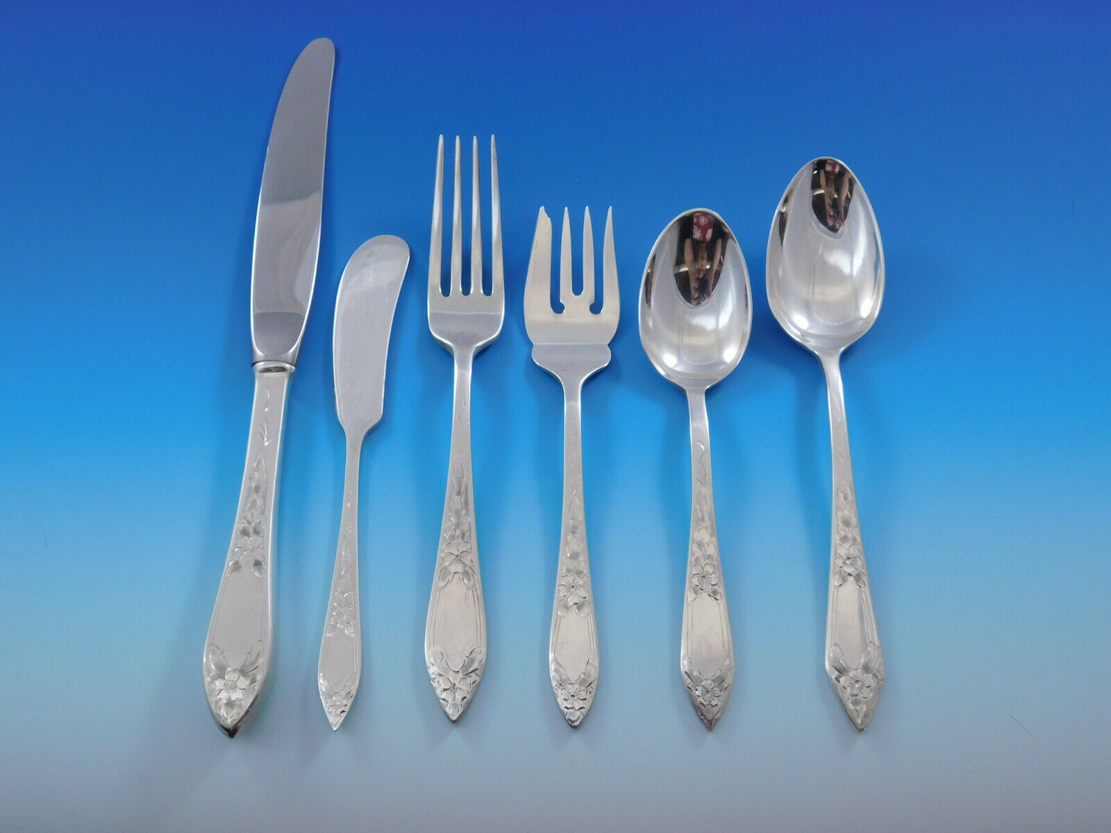 Primary image for Lady Claire by Stieff Sterling Silver Flatware Set for 6 Service 36 pieces