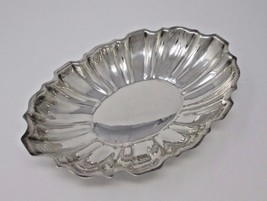 Vintage Lawrence B. Smith Silverplated Fluted Bowl Nut Or Candy Dish - $27.95