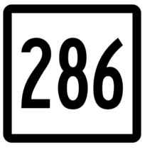 Connecticut State Route 286 Sticker Decal R5234 Highway Route Sign - $1.45+