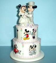 Lenox Disney Mickey Minnie's Wedding Day Wishes Atop Tiered Wedding Cake... - $87.90