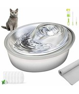 ORSDA Cat Water Fountain Stainless Steel, Pet Fountain Dog Water Dispens... - $93.54