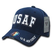 Usaf Us Air Force Military Hat Bold Letter Officially Licensed Baseball Cap Hat - $26.95