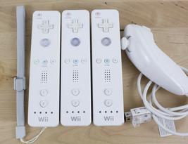 Lot of 3 Genuine Nintendo Wii Remote Controllers RVL-003 & 1 Nunchuck  - $24.99